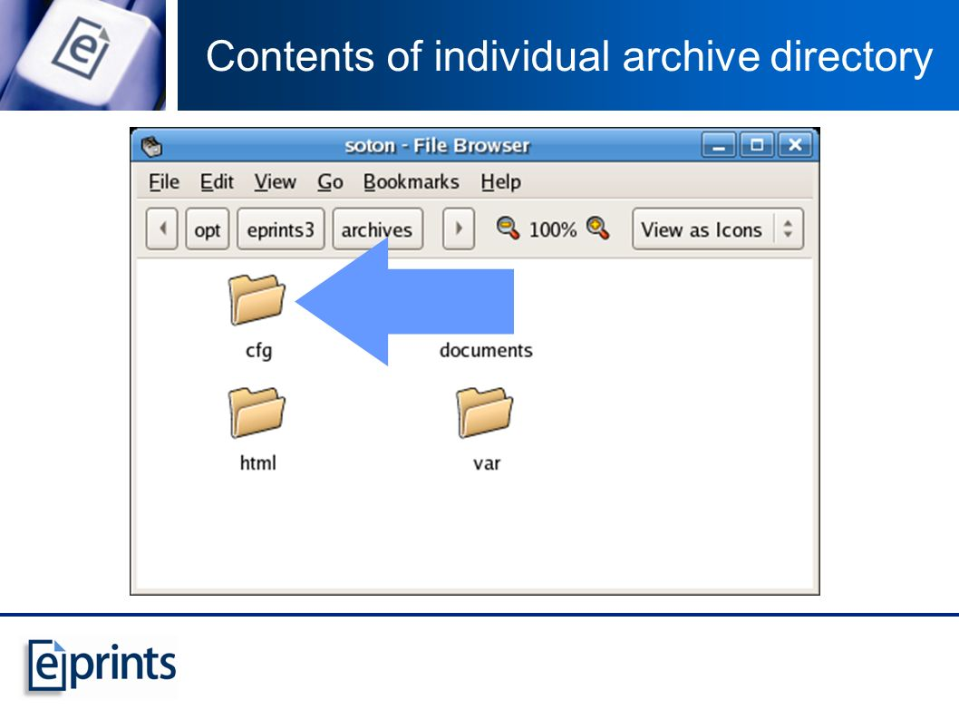 Contents of individual archive directory