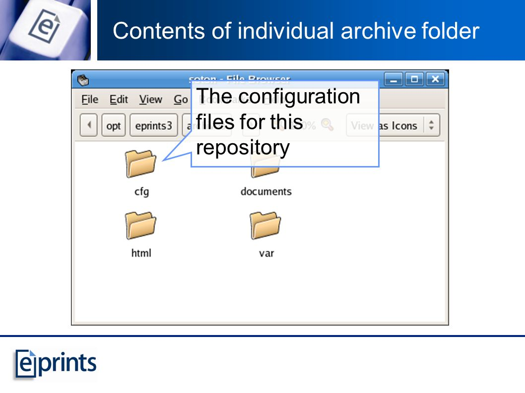 Contents of individual archive folder The configuration files for this repository
