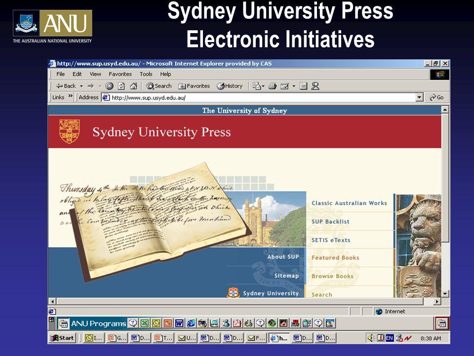 Sydney University Press Electronic Initiatives