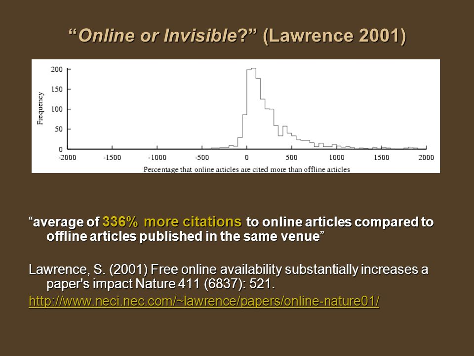 Online or Invisible. (Lawrence 2001)Online or Invisible.