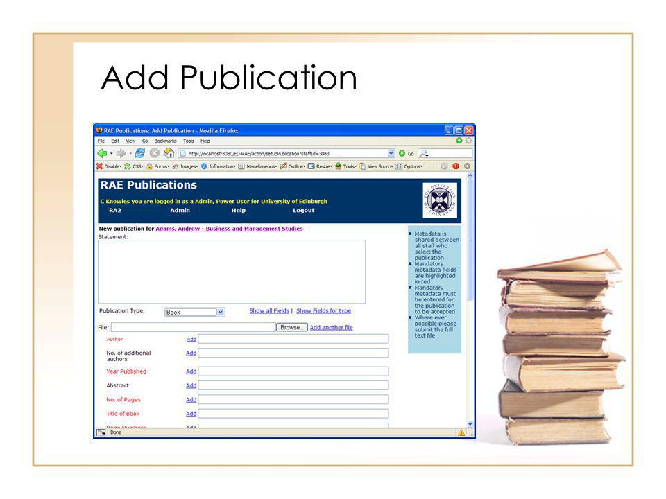 Add Publication
