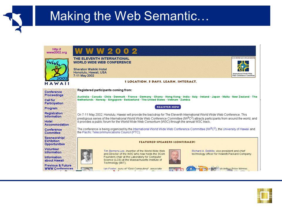 Making the Web Semantic…