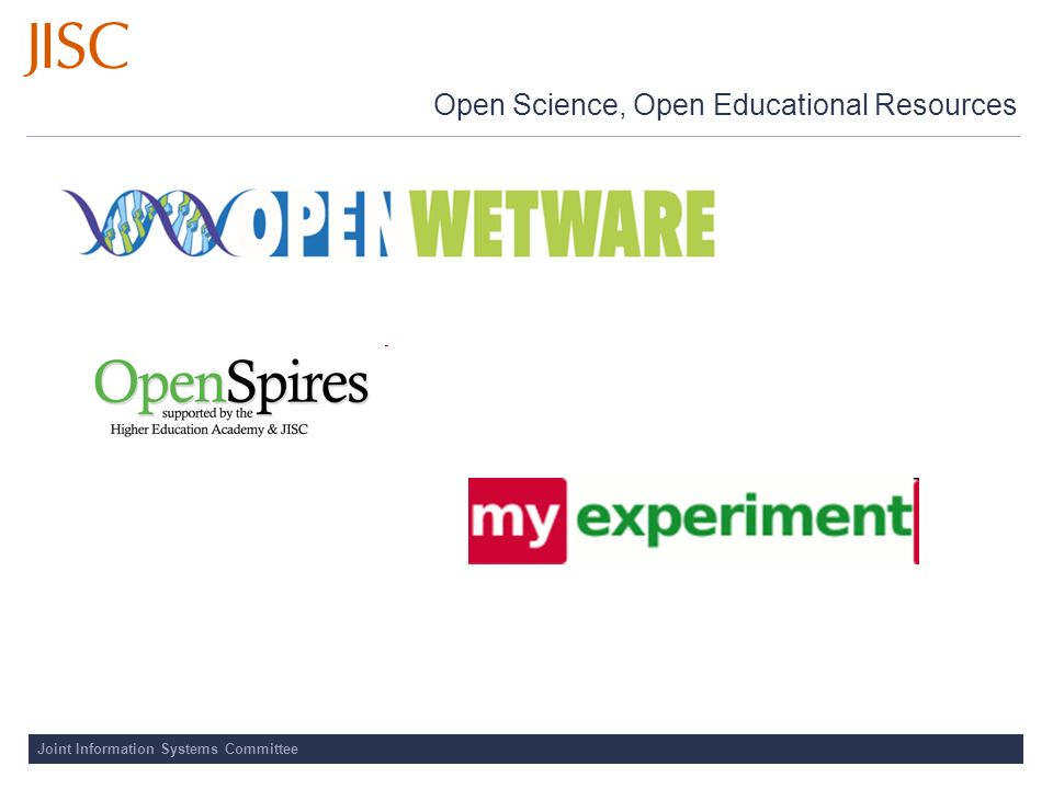 Joint Information Systems Committee Open Science, Open Educational Resources