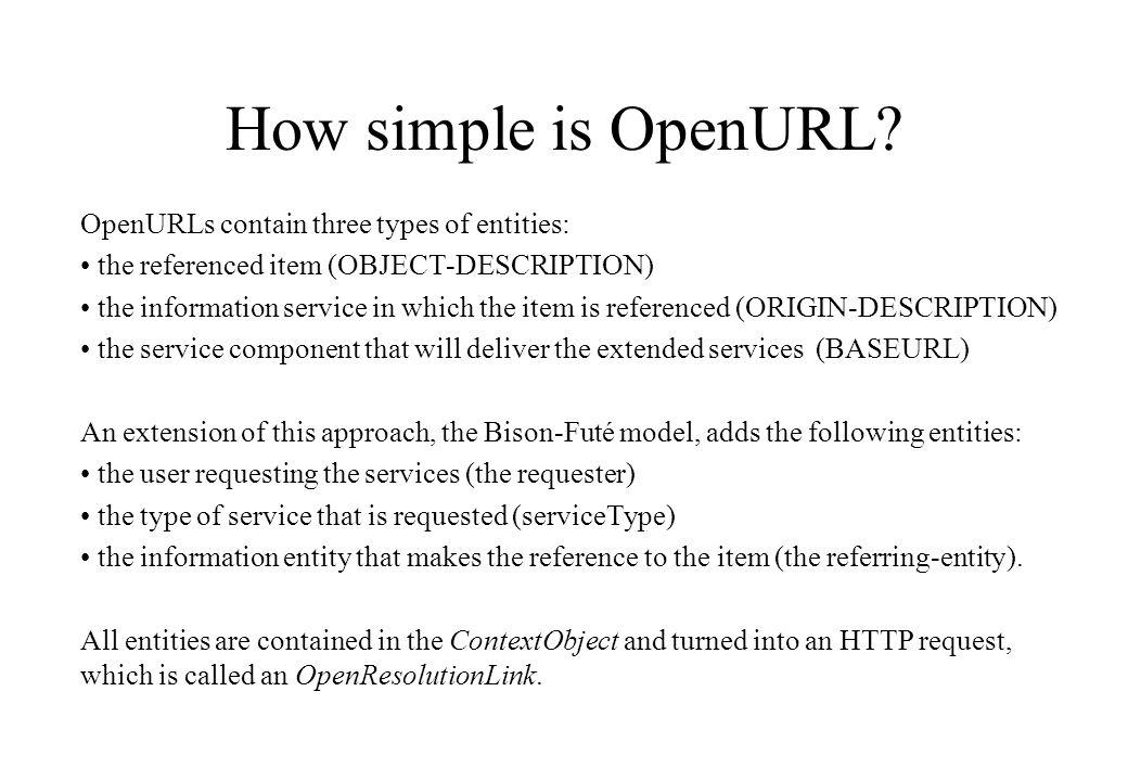 How simple is OpenURL.