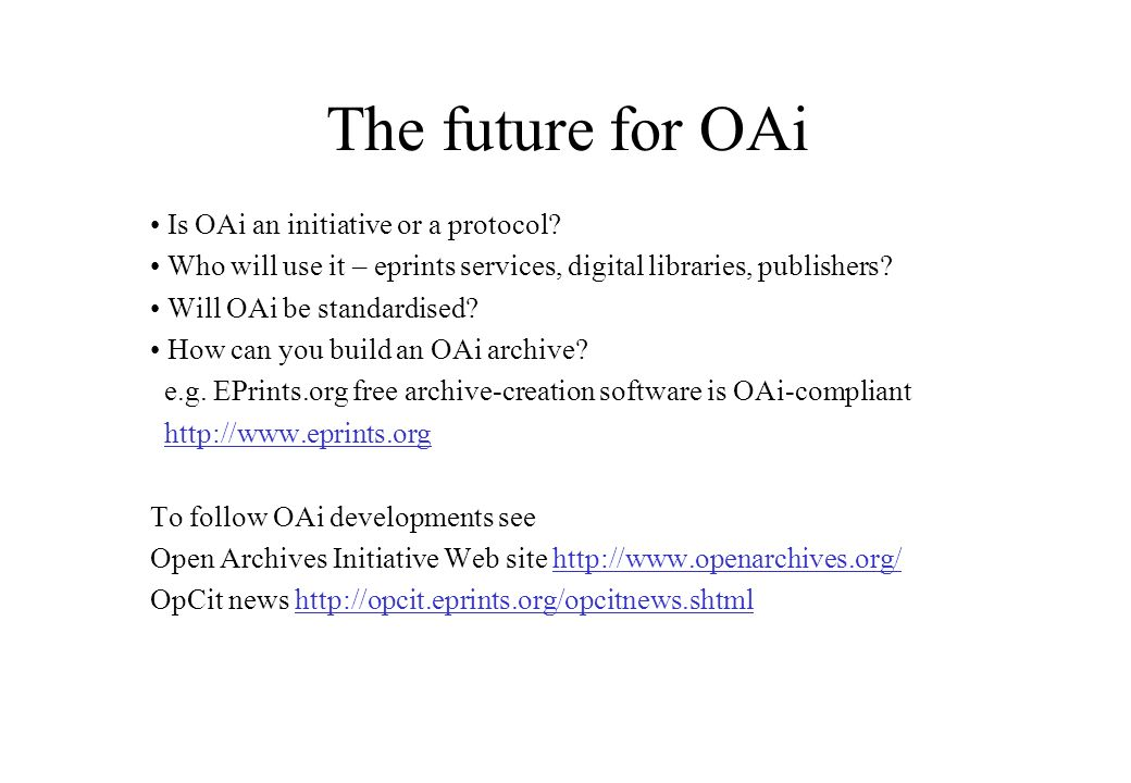 The origins of OpenURL There may be many versions of a publication.