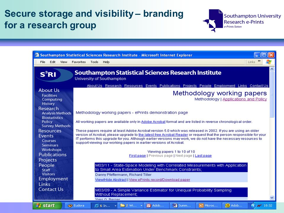 Secure storage and visibility – branding for a research group