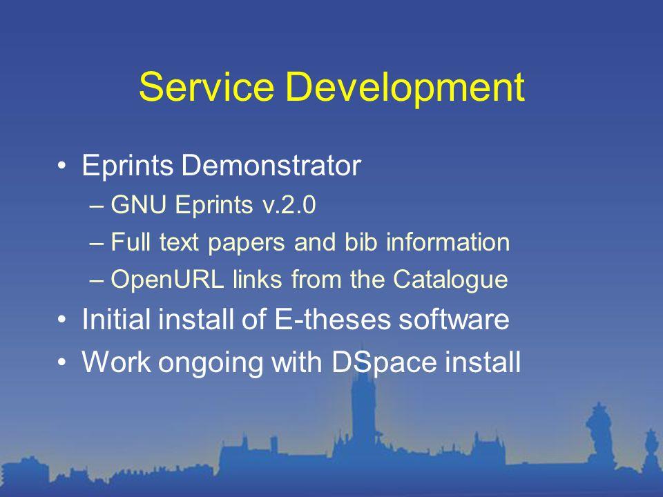 Eprints screenshot