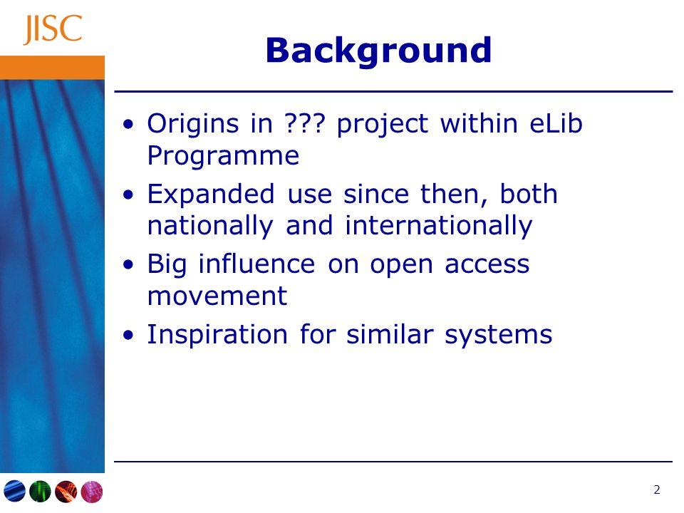 2 Background Origins in .