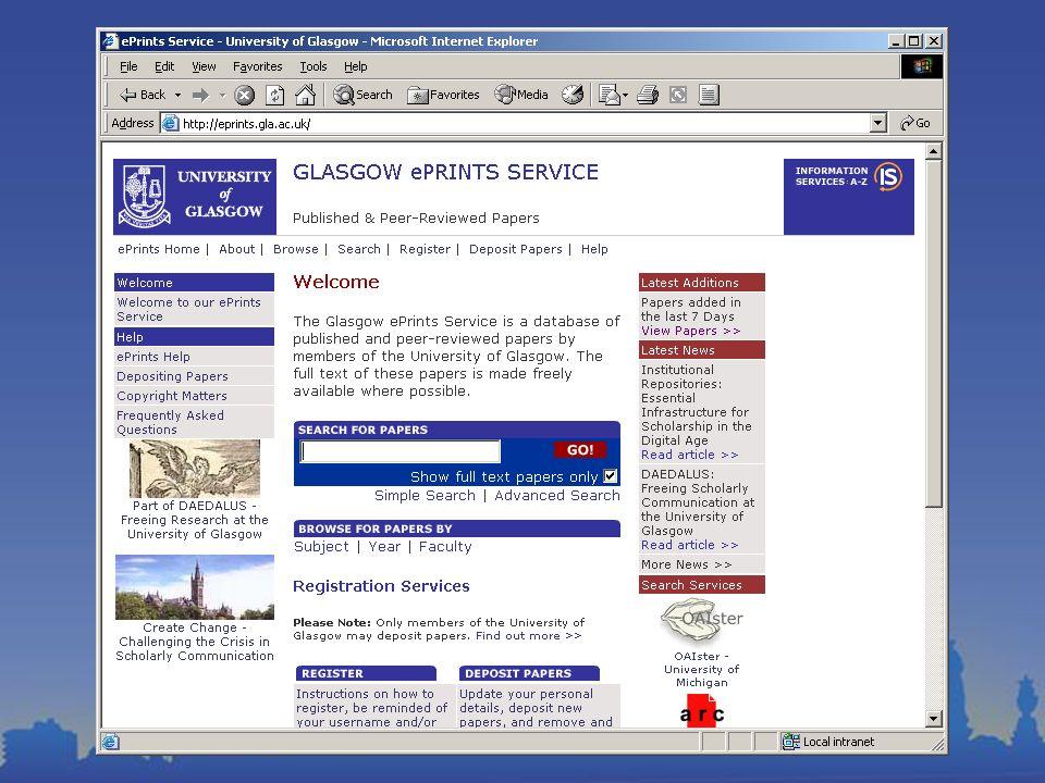 ePrints at Glasgow