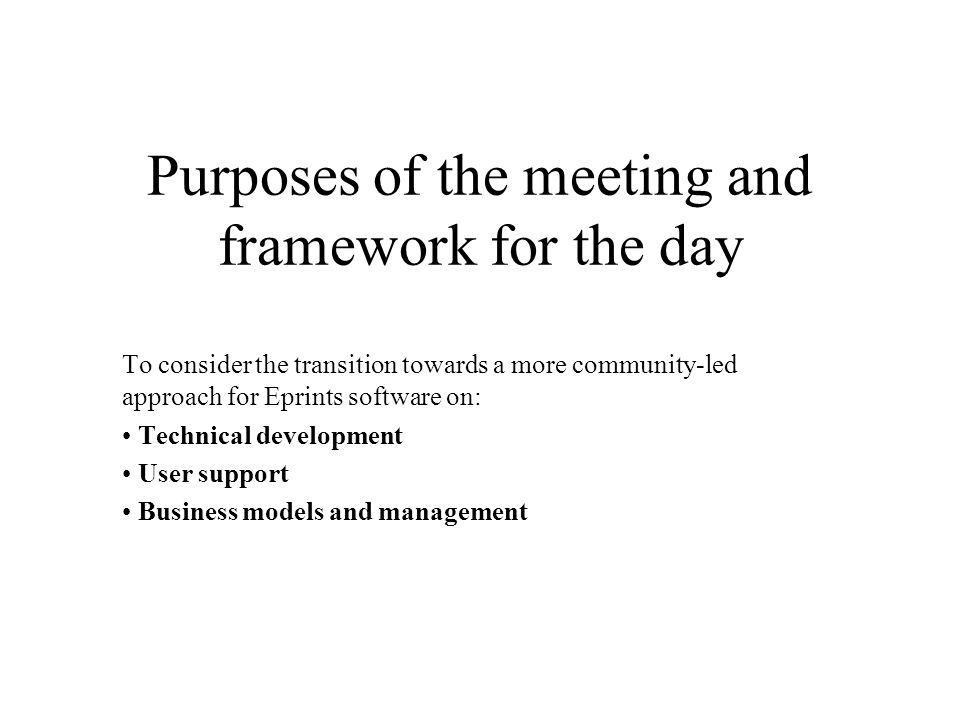 Some issues: technical development What are the technical requirements of future implementations.