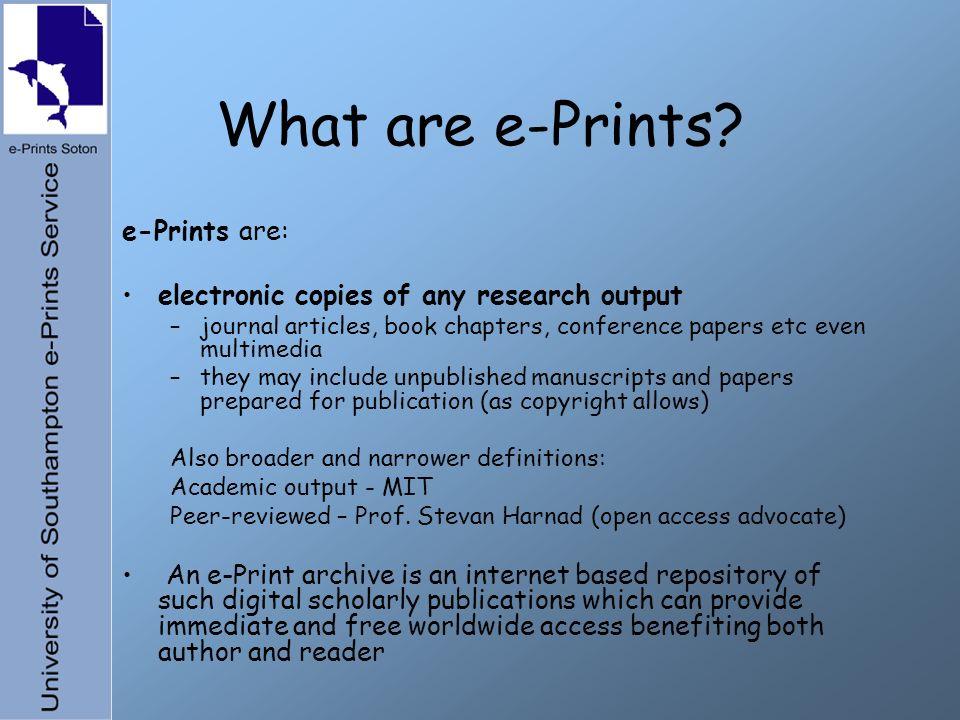 What are e-Prints.