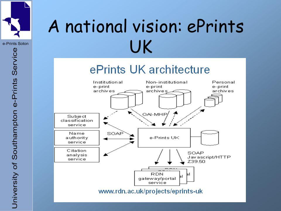 A national vision: ePrints UK