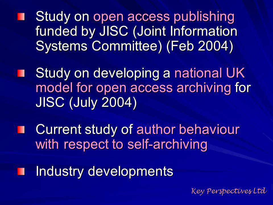 How many authors are self- archiving at the moment.