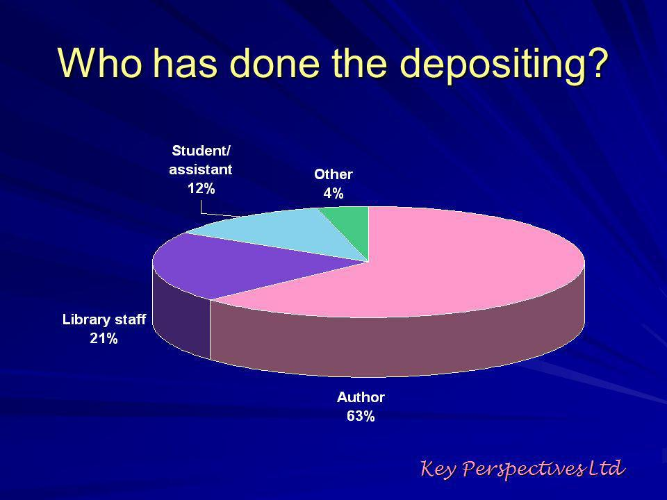 Who has done the depositing Key Perspectives Ltd