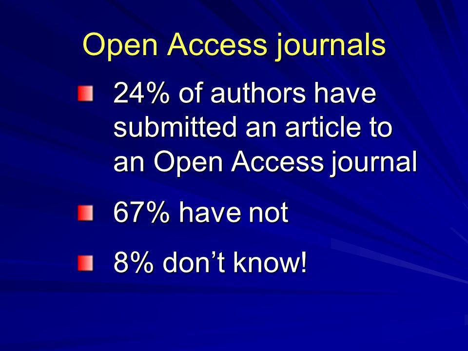 Why publish in an OA journal.