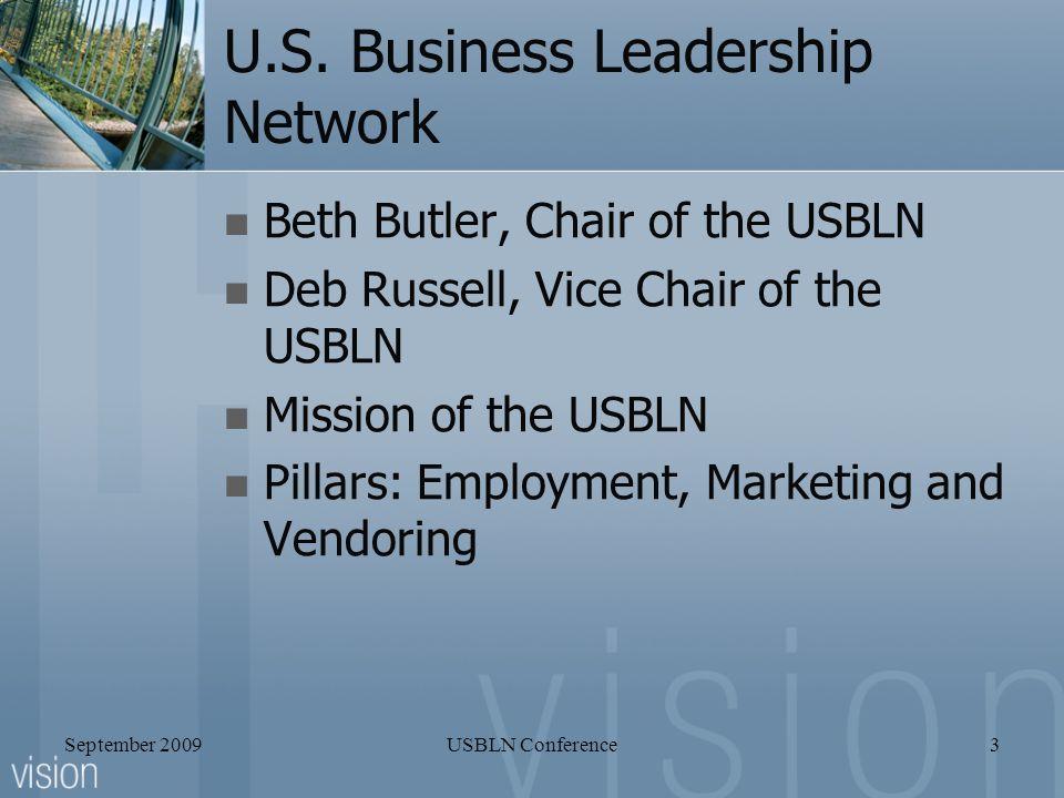 September 2009USBLN Conference3 U.S.