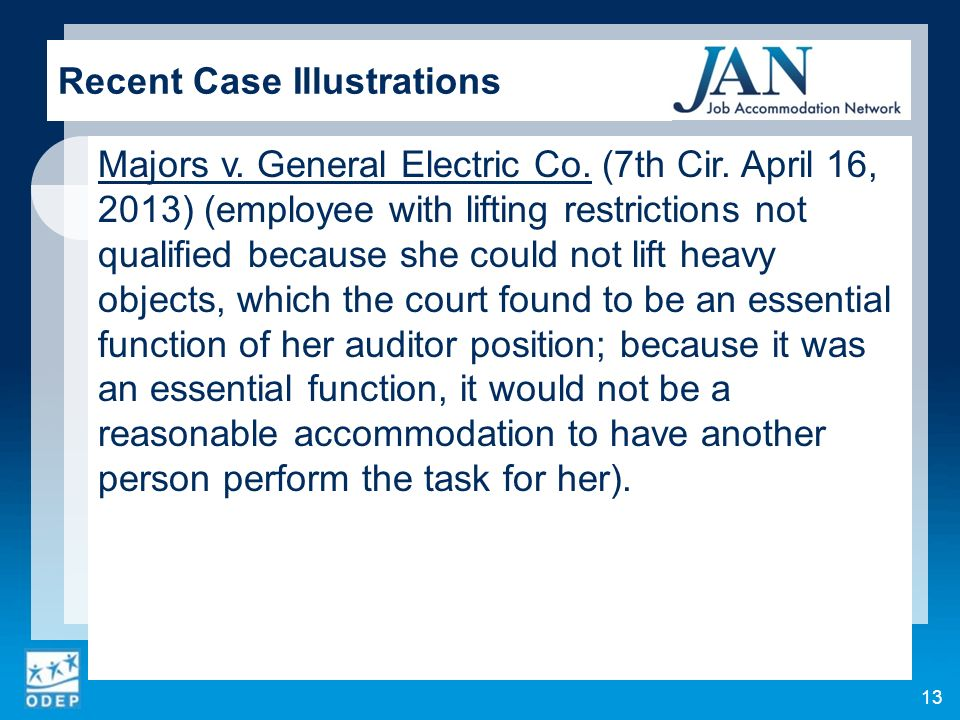 Majors v. General Electric Co. (7th Cir.