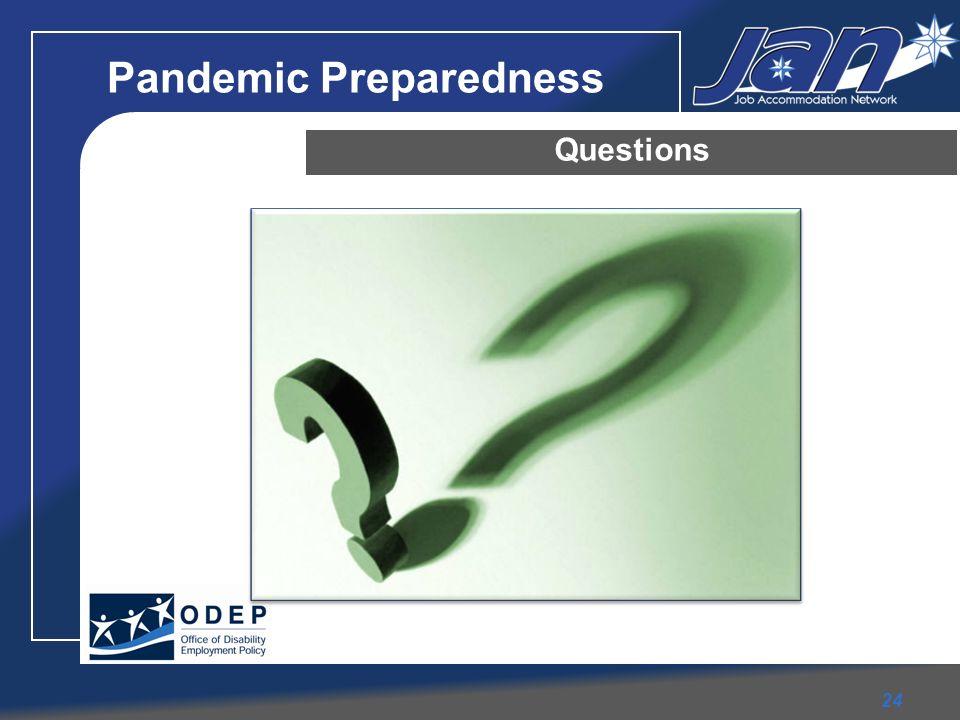 Pandemic Preparedness Questions 24