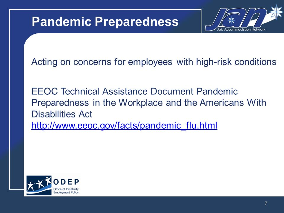 Q: Underlying Conditions During a pandemic, may an ADA-covered employer ask employees who do not have influenza symptoms to disclose whether they have a medical condition that the CDC says could make them especially vulnerable to influenza complications.