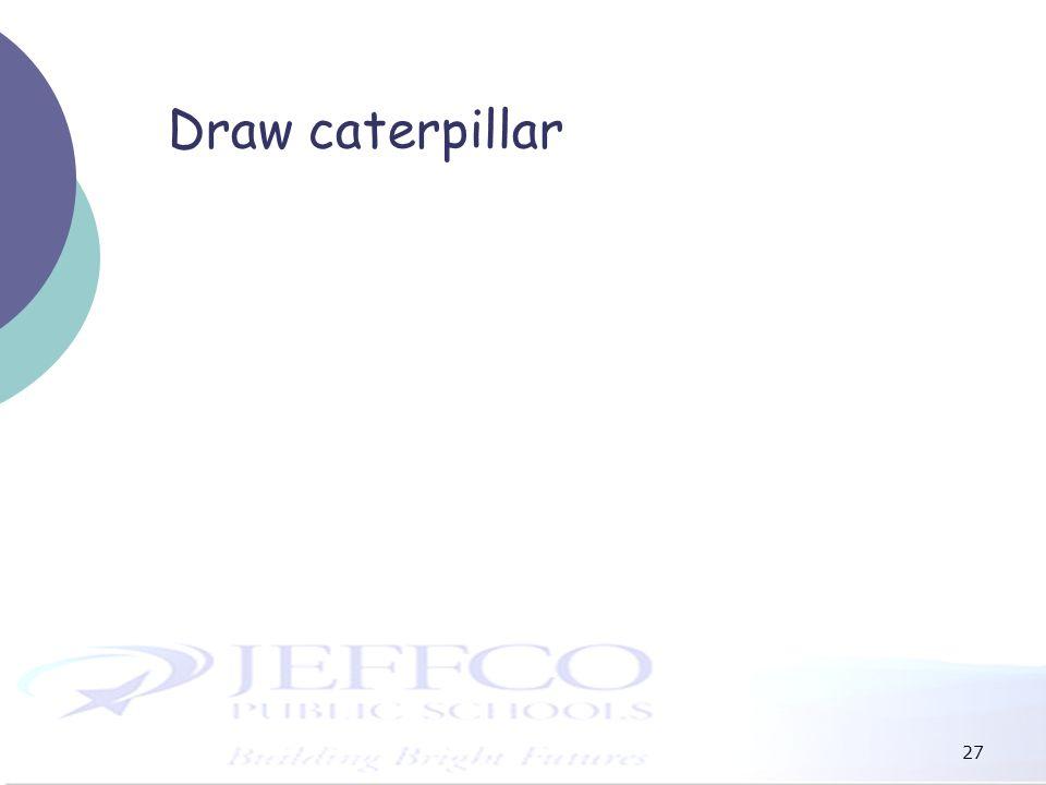 Draw caterpillar 27