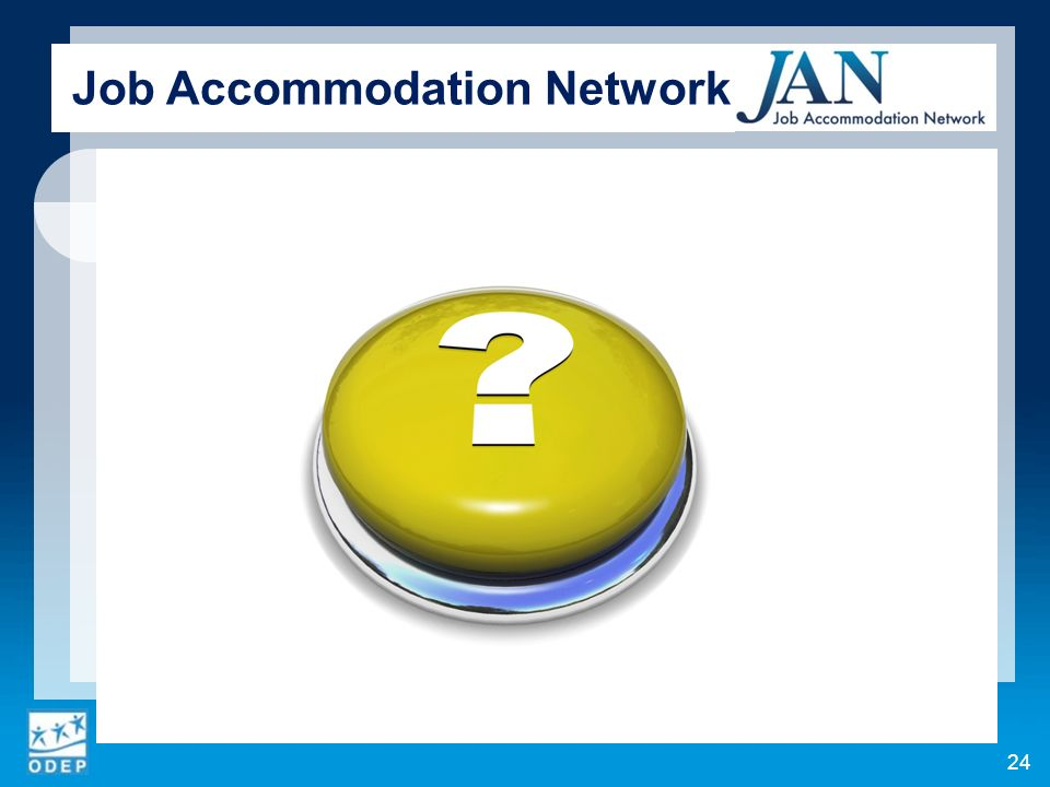 24 Job Accommodation Network