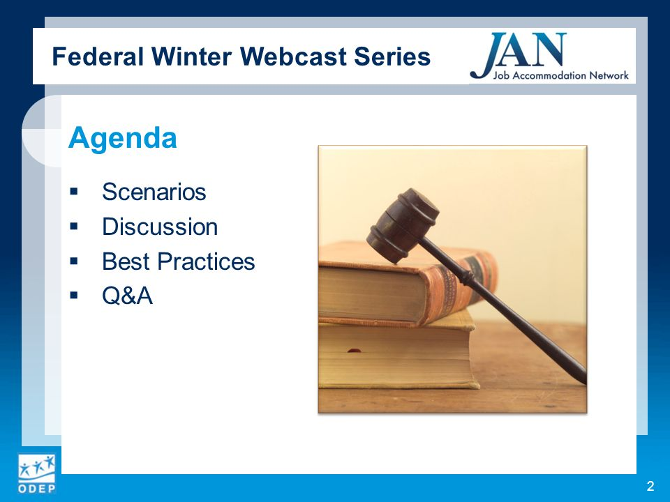 Federal Winter Webcast Series Agenda Scenarios Discussion Best Practices Q&A 2