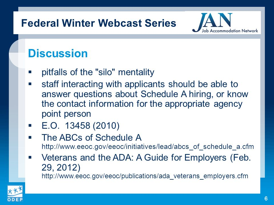 Federal Winter Webcast Series Discussion pitfalls of the