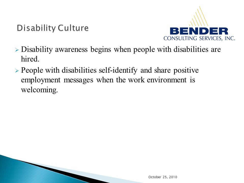 Disability awareness begins when people with disabilities are hired.