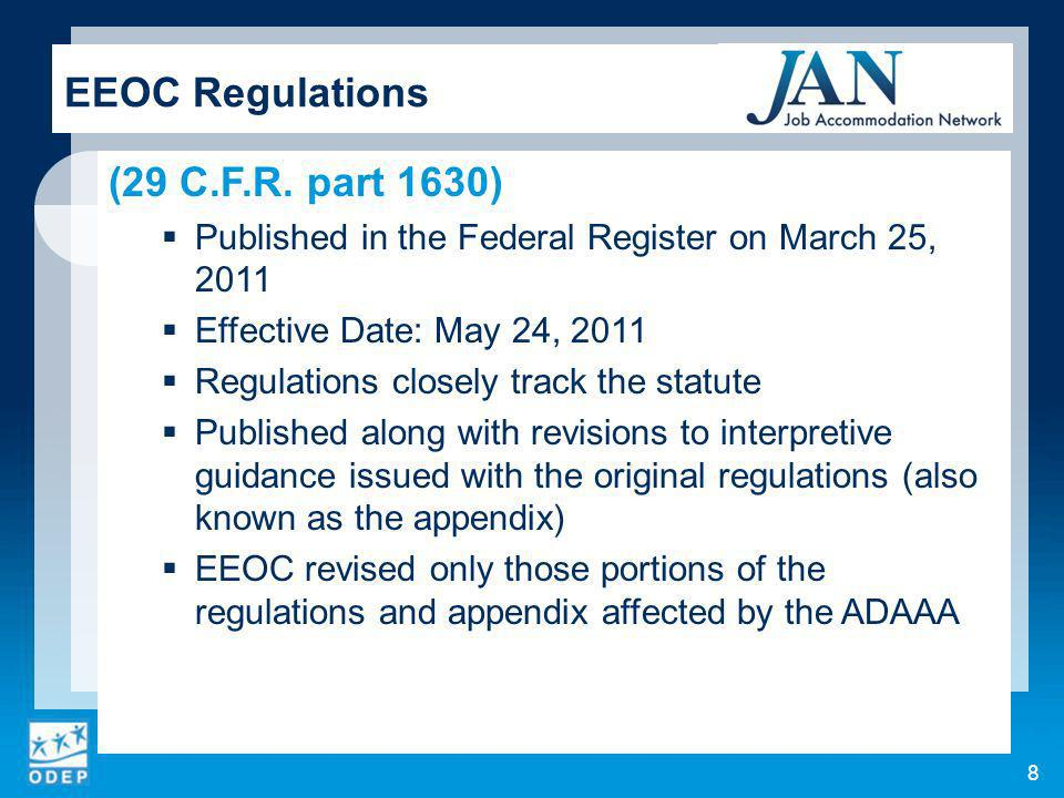 8 EEOC Regulations (29 C.F.R.