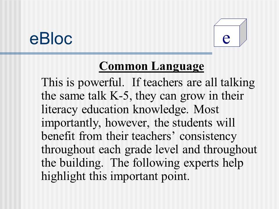 e eBloc Common Language This is powerful.