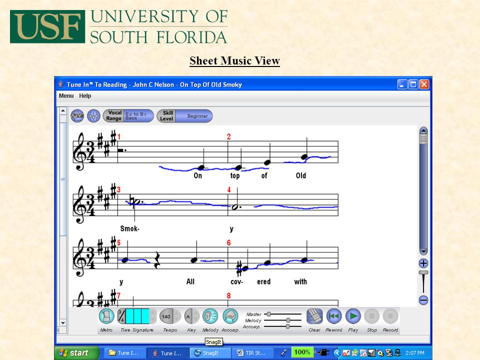 Sheet Music View