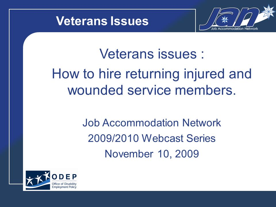 12 Dispelling the Myths with Facts: 80% of TBIs are mild concussions that will heal completely Employers neednt fear employees with PTSD Job accommodations are usually low cost or no cost There are incentives and benefits to hiring veterans, who are known to make excellent employees Employment plays a critical role in a wounded warriors recovery Americas Heroes at Work