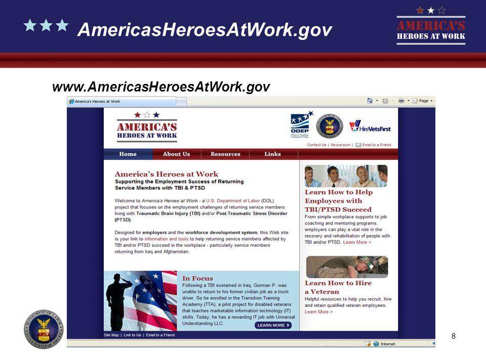8 AmericasHeroesAtWork.gov www.AmericasHeroesAtWork.gov