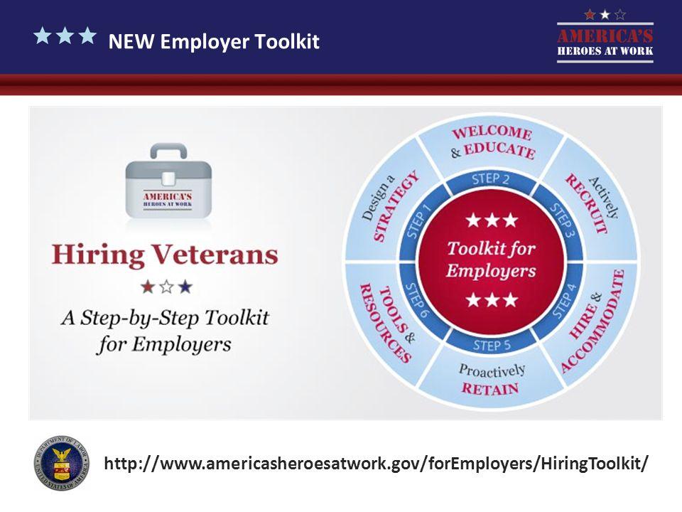 NEW Employer Toolkit http://www.americasheroesatwork.gov/forEmployers/HiringToolkit/