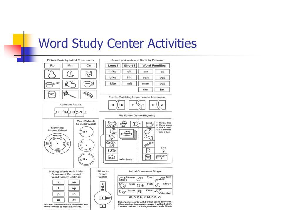 Word Study Center Activities