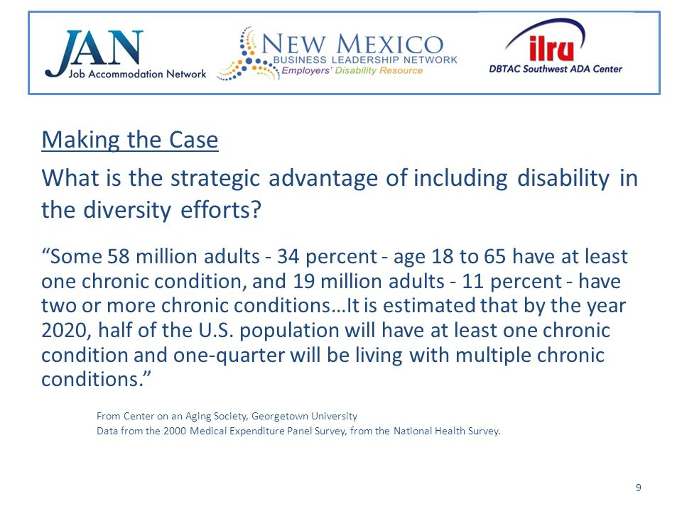 Making the Case What is the strategic advantage of including disability in the diversity efforts.