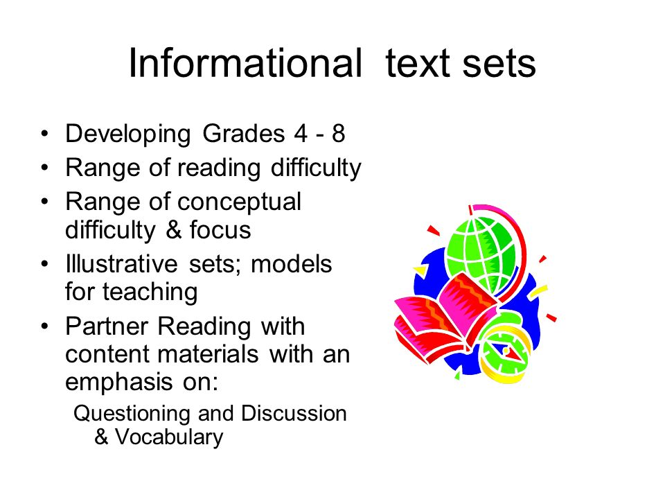 Text Sets For Grades 3, 5, & 8