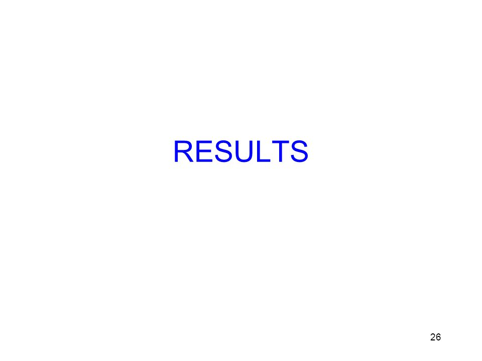 26 RESULTS