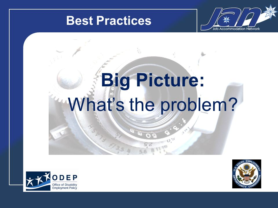 Best Practices Big Picture: Whats the fix?