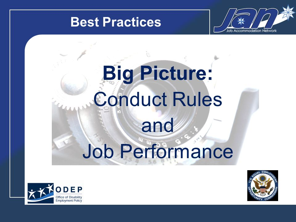 Best Practices Big Picture: Avoiding Harassment and Retaliation