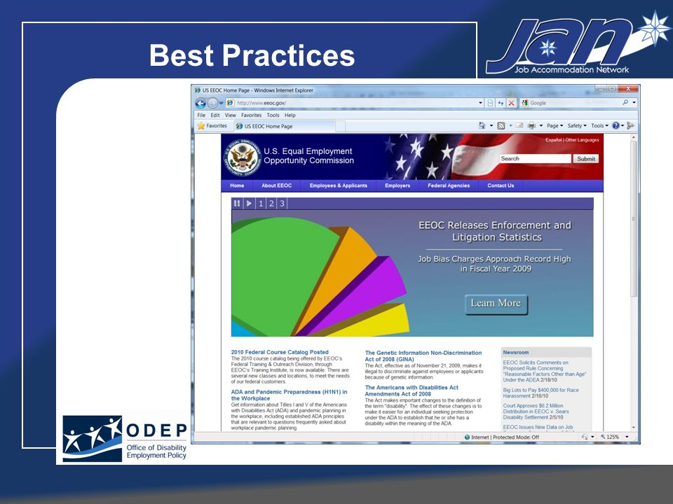 Schedule A Guides www.eeoc.gov/eeoc/initiatives/lead/abcs_of_schedule_a.cfm www.jan.wvu.edu/LEAD Questions and Answers: Promoting Employment of Individuals in the Federal Workforce www.eeoc.gov/federal/qanda-employment-with-disabilities.cfm The ADA: Applying Performance and Conduct Standards to Employees with Disabilities www.eeoc.gov/facts/performance-conduct.html