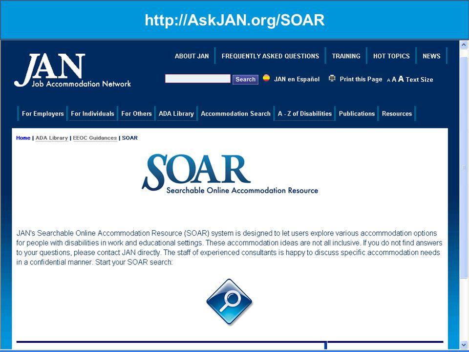 17 http://AskJAN.org/SOAR