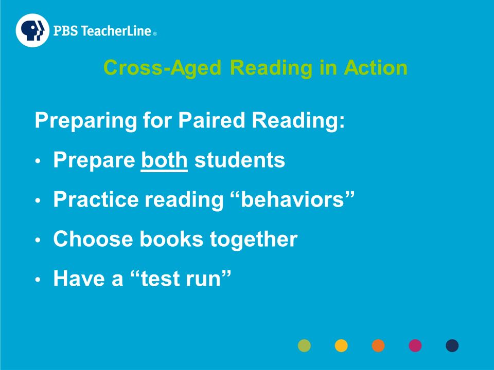 Cross-Aged Reading in Action Reading Buddies – Anna