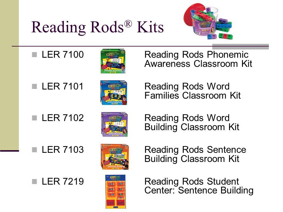 LER 7100Reading Rods Phonemic Awareness Classroom Kit LER 7101Reading Rods Word Families Classroom Kit LER 7102Reading Rods Word Building Classroom Ki