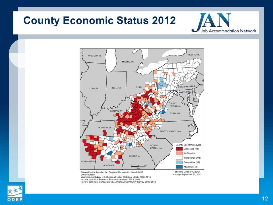 12 County Economic Status 2012