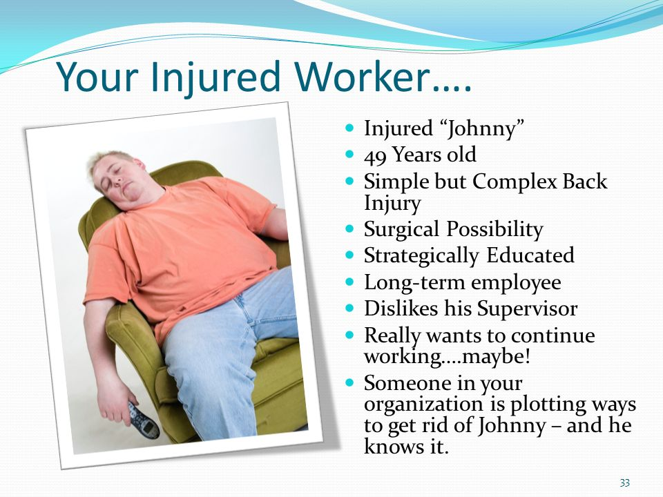Your Injured Worker….