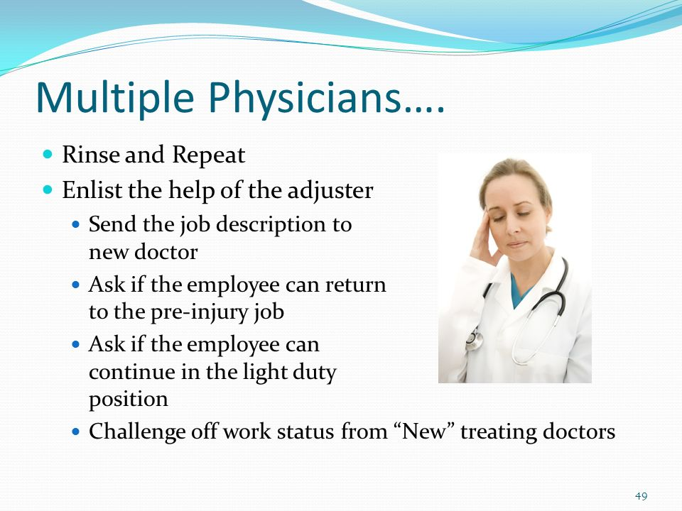 Multiple Physicians….