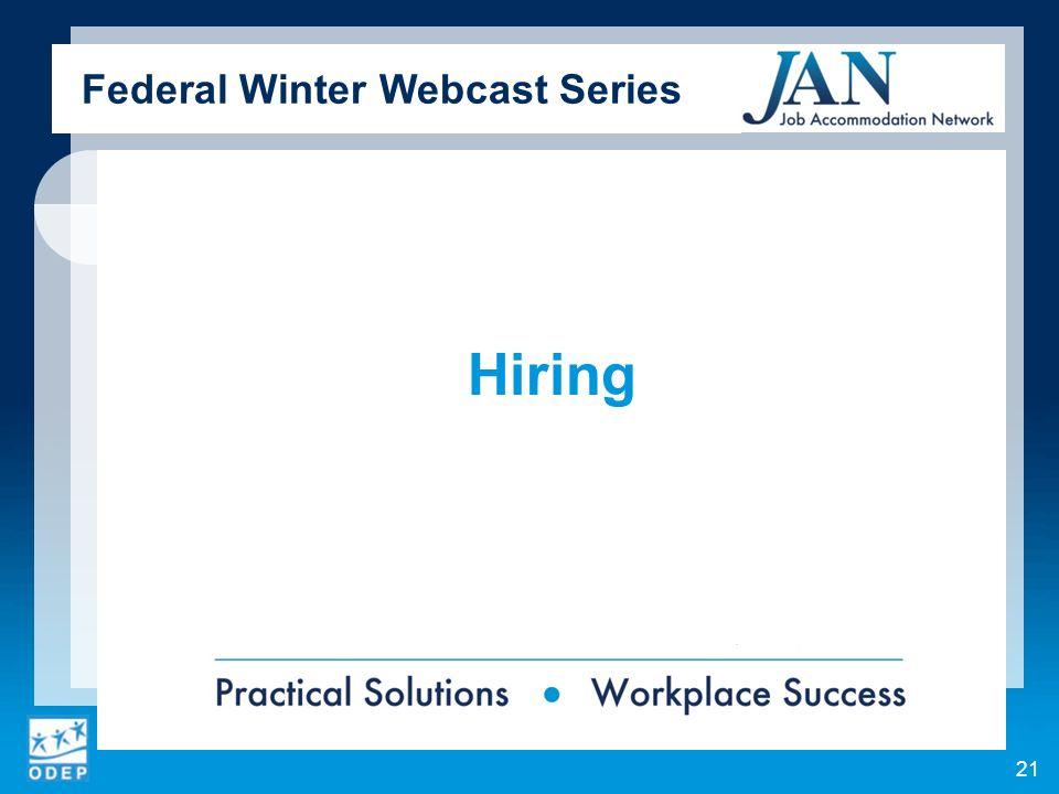 Hiring Federal Winter Webcast Series 21