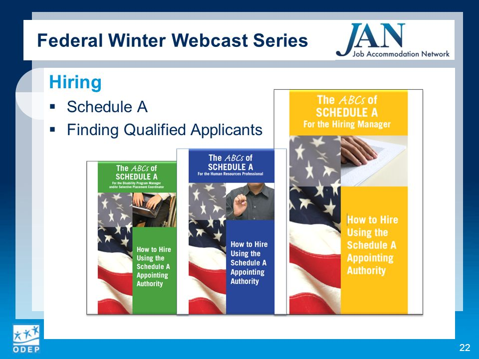 Federal Winter Webcast Series Hiring Schedule A Finding Qualified Applicants 22