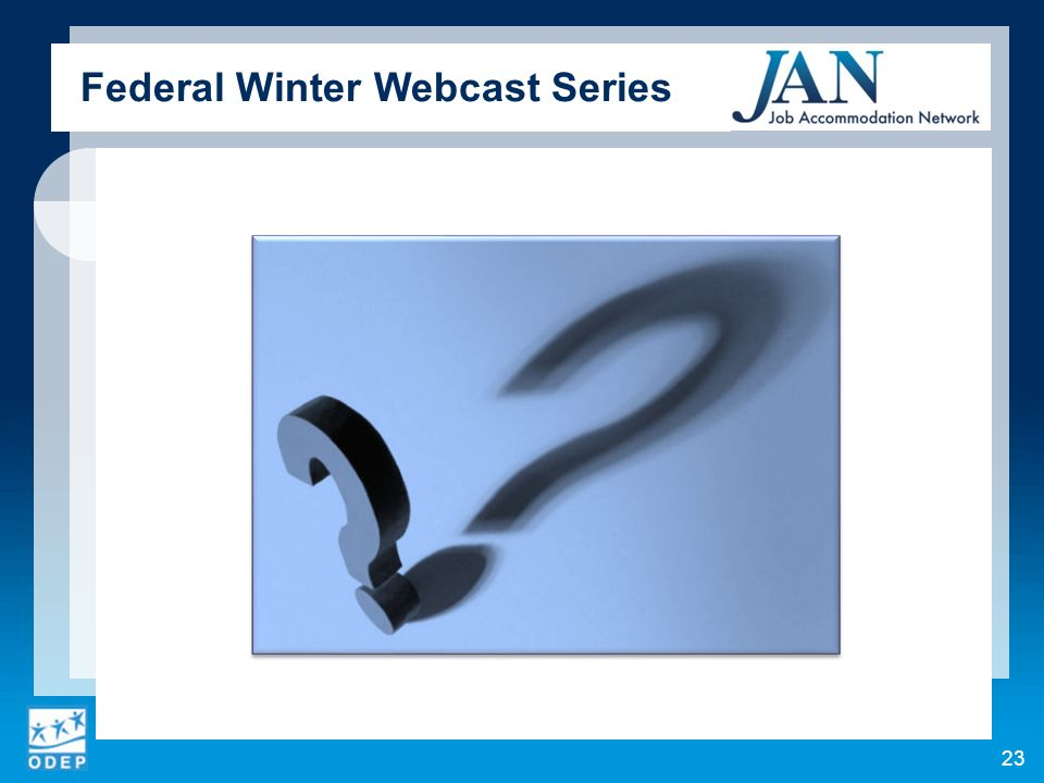 Federal Winter Webcast Series 23